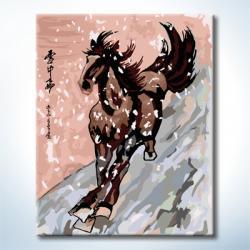 """TG111 ภาพระบายสีตามตัวเลข """"ม้าวิ่งพุ่งทะยาน"""""""