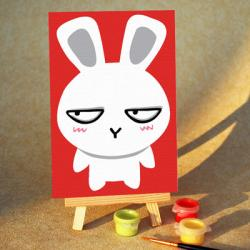 """TA156 ภาพระบายสีตามตัวเลข """"กระต่ายเหล่"""""""