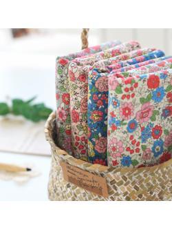 ผ้าคอตตอนเกาหลีลายดอกไม้