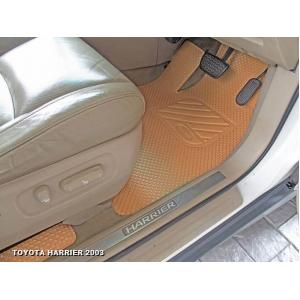 พรมปูพื้นรถยนต์ TOYOTA HARRIER 2003 กระดุมเม็ดเล็ก รีดขอบ สีชามัวร์