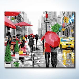 """TG388 ภาพระบายสีตามตัวเลข """"สีสันในวันฝนพรำ"""""""