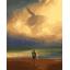 "MG813 ภาพระบายสีตามตัวเลข ""วาฬในม่านหมอก"" thumbnail 1"