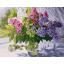 """MG740 ภาพระบายสีตามตัวเลข """"ดอกไม้สามสีในแจกันแก้ว"""" thumbnail 1"""