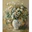 "MG763 ภาพระบายสีตามตัวเลข ""ดอกไม้ขาวในแจกันขาว"" thumbnail 1"