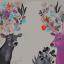 """MG746 ภาพระบายสีตามตัวเลข """"คู่กวางเขาดอกไม้"""" thumbnail 1"""