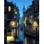 "MG738 ภาพระบายสีตามตัวเลข ""เวนิสในคืนจันทร์แรม"" thumbnail 1"