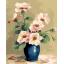 "MG750 ภาพระบายสีตามตัวเลข ""ดอกไม้ชมพูในแจกันน้ำเงิน"" thumbnail 1"