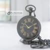 นาฬิกาพกแบบพับตั้งโต๊ะขนาด มินิ ตัวเรือนสีดำ ระบบถ่านควอทซ์ (พร้อมส่ง)
