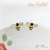 ต่างหูรูปผึ้ง งานเคลือบอินาเมล ฝังเพชร