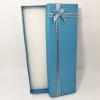 กล่องของขวัญสีฟ้า แบบยาว แต่งริบบิ้น
