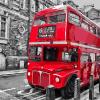 """MG881 ภาพระบายสีตามตัวเลข """"รถเมล์สองชั้นในลอนดอน"""""""