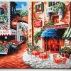 """TG281 ภาพระบายสีตามตัวเลข """"ร้านกาแฟอิตาเลี่ยน"""""""