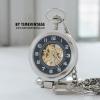 นาฬิกาตั้งโต๊ะพรีเมี่ยมระบบกลไกไขลานโบราณตัวเรือนสีดำสามารถเป็นนาฬิกาพกพกได้