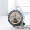 ของที่ระลึกแบบไทยๆ นาฬิกาลายไทยประดับคริสตัลลายวัดอรุณ ระบบเครื่องญี่ปุ่น (สั่งทำ)