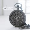 นาฬิกาพกลายฉลุเถาวัลย์รอบหัวใจ Circle Of Love สีดำ ระบบถ่านควอทซ์ญี่ปุ่น