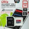 MicroSD Sandisk Ultra 200GB 100MB/s ประกันศูนย์ 10ปี