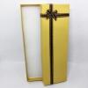 กล่องของขวัญสีทอง แบบยาว แต่งริบบิ้น