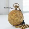นาฬิกาพกของสะสมรุ่นคลาสสิค นาฬิกาเนื้อทองเหลือง Rare Collection ระบบกลไกไขลาน