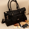 กระเป๋าFlower Heart รหัส FH0005 กระเป๋าแฟชั่นเกาหลี (สีดำ)