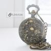 นาฬิกาของขวัญมงคลเพื่อพกพาสีทองเหลืองวินเทจ ร่ำรวยเงินทอง