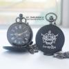 นาฬิกาลายไทยหนุมาน ระบบถ่านควอทซ์สีดำ (สั่งทำ)