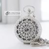 นาฬิกาพกลายฉลุเถาวัลย์รอบหัวใจ Circle Of Love สีเงิน (พร้อมส่ง)