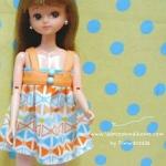 Dress เดรสสั้น ขนาดสำหรับ Licca, jenny, Blythe, Barbie และบอร์ดี้ใกล้เคียง
