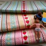 ผ้า cotton สั่งจากอเมริกา1 จำนวนคือขนาด 1/8 หลา 25-27 x45 cm. เลือกสีค่ะ