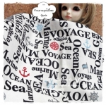 NOV55.JAPAN15 : ผ้าญี่ปุ่นของ cosmo textile - Marine & Sea word 100% canvas cotton 1 จำนวน = ขนาด1/8 เมตร :25- 27.5 X 50 cm พร้อมส่ง 6 จำนวนค่ะ