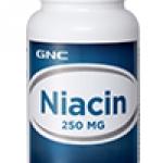 GNC Niacin 250 จีเอ็นซี ไนอะซิน 250 (วิตามินบี 3) 100 Vegetarian Tablets Code: 251312 เลขทะเบียน อย. 1C 124/50