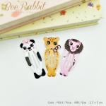 กิ๊บติดผมแพ็ค 3 ชิ้น กิ๊บแป๊กรูปสัตว์น่ารัก(แพนด้า+เสือ+สิงโต)