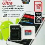 MicroSD Sandisk Ultra 128GB 100MB/s ประกัน Synnex 10ปี
