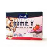WHEY Protein Isolate เครื่องดื่มโปรตีนเวย์ รสสตรอเบอร์รี่ 20 ซอง