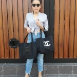 Must Have! Chanel Satin Shopping Bag