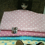 SEP58.Pack14 : ผ้าคอตตอนลานจุดกาในไทยค่ะเนื้อดี ขนาดผ้า27x50 cm