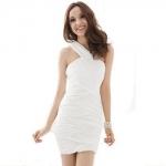 H118372 white sexy dress