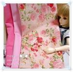 JUNE58.Pack50 : ผ้าจัดเซต 3 ชิ้น ผ้าลายกุหลาบผ้าพื้นเนื้อดีในไทยขนาด แต่ละชิ้น 27 X50 cm
