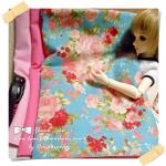 JUNE58.Pack41 : ผ้าจัดเซต 3 ชิ้น ผ้าลายกุหลาบผ้าพื้นเนื้อดีในไทยขนาด แต่ละชิ้น 27 X50 cm