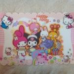 แผ่นรองทานข้าว PVC ลาย Kitty/ My Melody&Kuromi