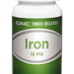 GNC Timed Release Iron 18 mg จีเอ็นซี ไอรอน 18มก. 100 Tablets Code: 014967 เลขทะเบียน อย. 1C 26/43