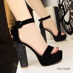 (พร้อมส่ง)รองเท้าส้นเตารีด แฟชั่น ราคาถูก มีไซด์ 38