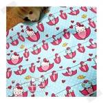JULY58.USA3 : Kitty ผ้าสั่งจาก USA 100% cotton แบ่งขายขั้นต่ำ ขนาด1/8 หลา : 25-27.5 X 45cm =1 จำนวน