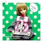 """(เหลือ 3 ใบค่ะ) HMLMshop128 : กระเป๋า สำหรับ ตุ๊กตา 16 """" (MSD,AMT,NANCY doll 16 """")"""" Pimwaradda's Craft """" (ผ้านำเข้าค่ะ)"""