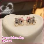 ตุ้มหูแมวเหมียวคิดตี้ Europe and the United States women retro earrings earrings jewelry love ornaments century cartoon earrings Korea Korea