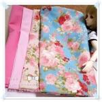JUNE58.Pack51 : ผ้าจัดเซต 4 ชิ้น ผ้าลายกุหลาบผ้าพื้นเนื้อดีในไทยขนาด แต่ละชิ้น 27 X50 cm