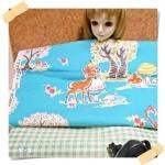 JUNE58.Pack38 : ผ้าจัดเซต 2 ชิ้น ผ้าญี่ปุ่นลาย Alice +ผ้าผ้าลายตารางในไทยขนาด แต่ละชิ้น 27 X50 cm