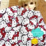 (พร้อมส่งเหลือ 1 จำนวน   Pre หมดค่ะ ) AGUST57.USA7 : ผ้า Hello Kitty สั่งจาก USA 100% cotton แบ่งขายขั้นต่ำขนาด1/8 m : 25-27.5 X 45 cm =1 จำนวน