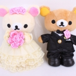 พร้อมส่งค่ะ ตุ๊กตาคู่แต่งงานRilakkuma 20 CM สำหรับมอบเป็นของขวัญ wedding/ anniversary
