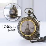 นาฬิกาลายไทยประดับคริสตัลลายวัดอรุณ ระบบเครื่องญี่ปุ่น (สั่งทำ)