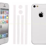 ฟิล์มกันรอยรอบเครื่อง สีขาว for iPhone5